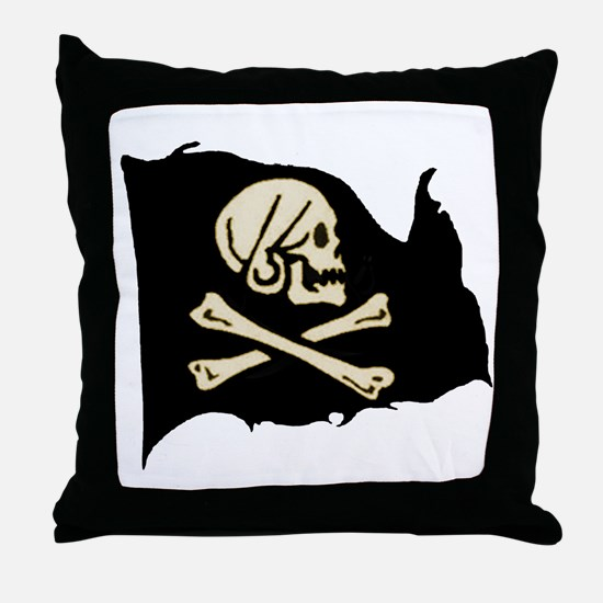Henry Avery Pirate Flag Throw Pillow