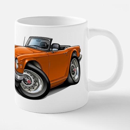 Triumph TR6 Orange Car Mugs