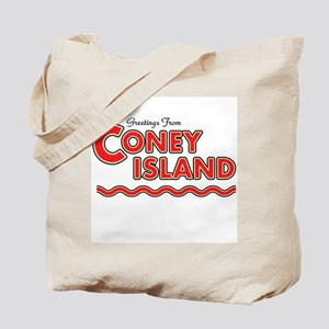 Greetings From Coney Island Tote Bag