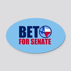 Beto Texas Senate Oval Car Magnet