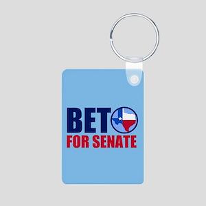 Beto Texas Senate Aluminum Photo Keychain