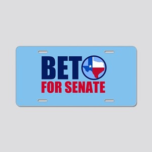 Beto Texas Senate Aluminum License Plate