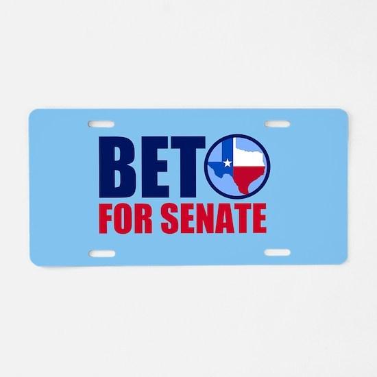 Beto Texas Senate Aluminum License Plate