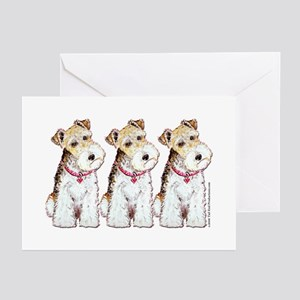 Homeless Fox Terrier Greeting Cards