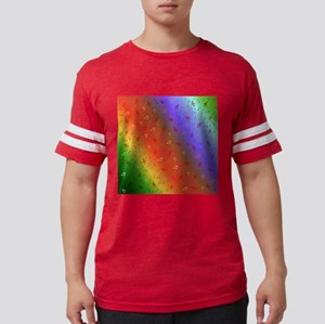 colorful music notes in rainbow background T-Shirt