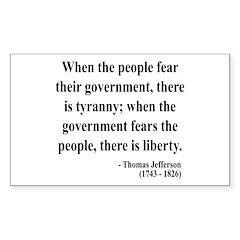 Thomas Jefferson 6 Rectangle Decal