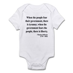 Thomas Jefferson 6 Infant Bodysuit