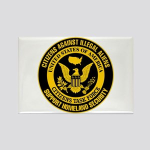 Citizens Against Illegal Aliens Rectangle Magnet
