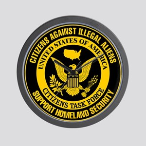 Citizens Against Illegal Aliens Wall Clock