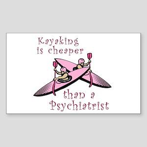 Kyaking is Cheaper Rectangle Sticker