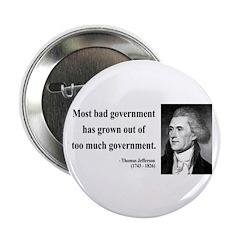 "Thomas Jefferson 8 2.25"" Button (100 pack)"