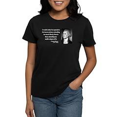 Thomas Jefferson 11 Women's Dark T-Shirt
