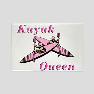Kayak Queen Rectangle Magnet
