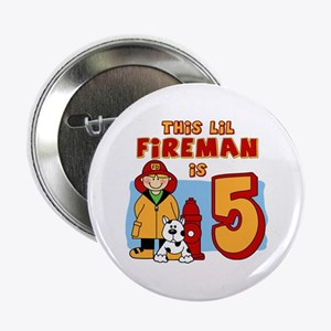 "Fireman 5th Birthday 2.25"" Button"