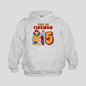 Fireman 5th Birthday Kids Hoodie