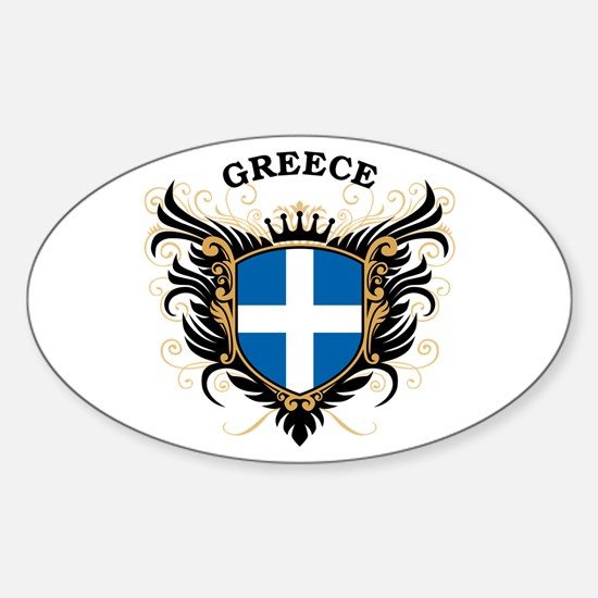 Greece Sticker (Oval)