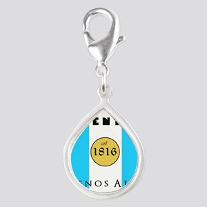 Argentina 1816 Silver Teardrop Charm