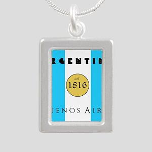 Argentina 1816 Silver Portrait Necklace