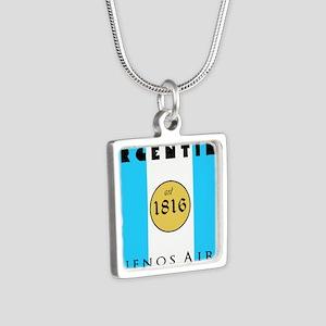 Argentina 1816 Silver Square Necklace