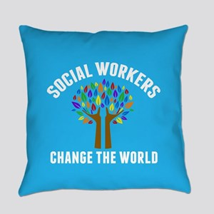 Social Work Quote Everyday Pillow