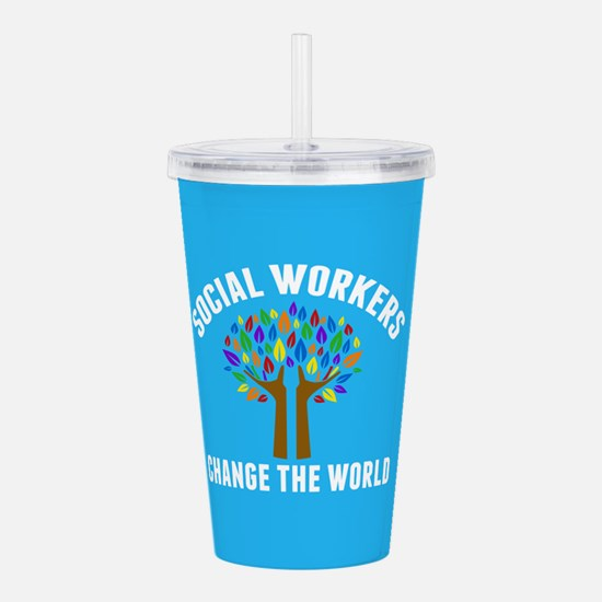 Social Work Quote Acrylic Double-wall Tumbler