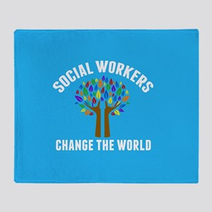 Social Work Quote Throw Blanket