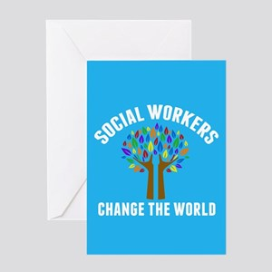 Social Work Quote Greeting Card