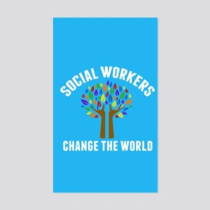 Social Work Quote Sticker (Rectangle)
