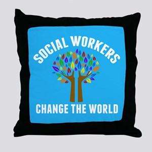 Social Work Quote Throw Pillow