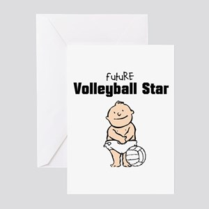 Future Volleyball Star (Boy) Greeting Cards (10)