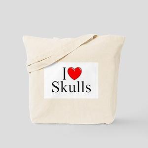 """I Love Skulls"" Tote Bag"
