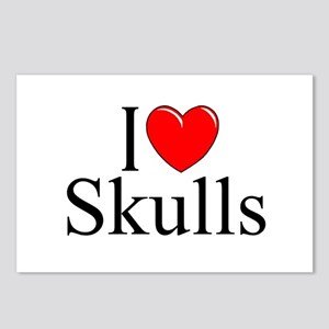 """I Love Skulls"" Postcards (Package of 8)"
