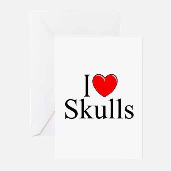 """I Love Skulls"" Greeting Cards (Pk of 10)"