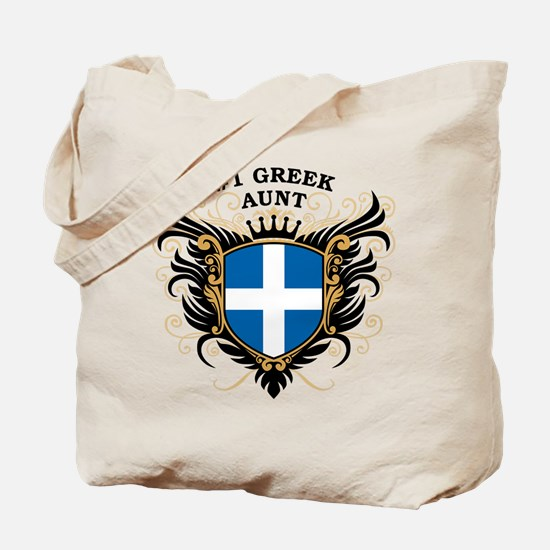 Number One Greek Aunt Tote Bag