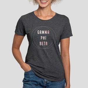 Gamma Phi Beta Circle Womens Tri-blend T-Shirt