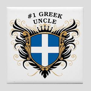 Number One Greek Uncle Tile Coaster
