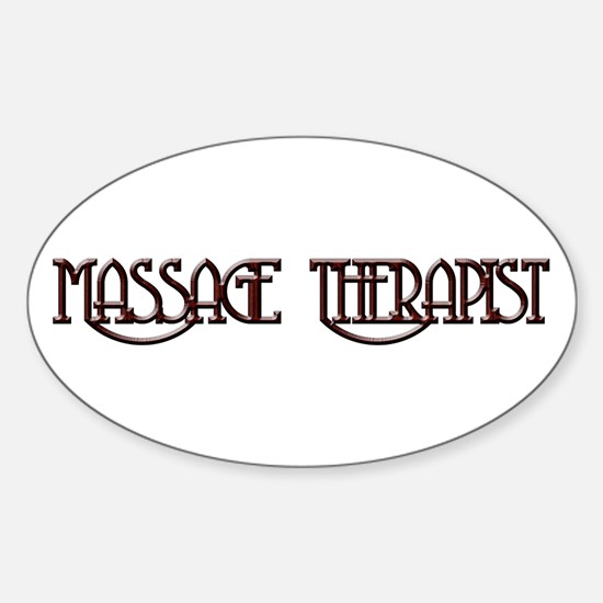 Massage Therapy 3 Oval Decal