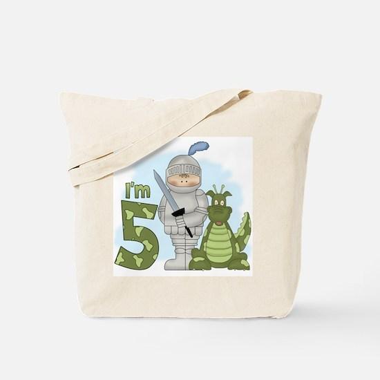 Dragon Knight 5th Birthday Tote Bag