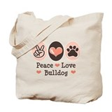 Bulldog lover Canvas Tote Bag