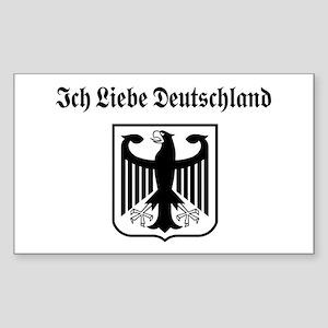Ich Liebe Deutschland Rectangle Sticker