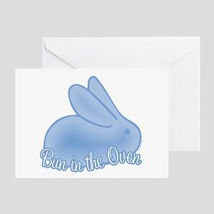 Bun In The Oven Blue II Greeting Card