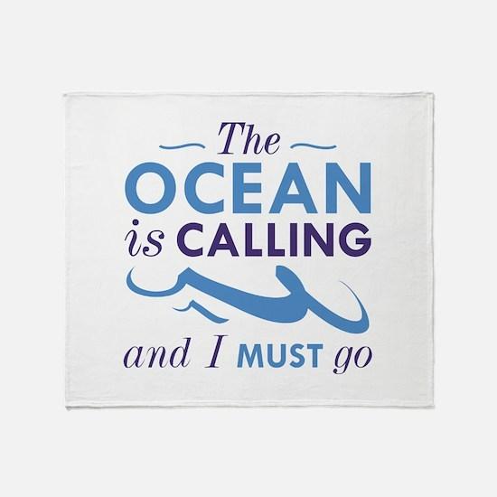 The Ocean Is Calling Stadium Blanket