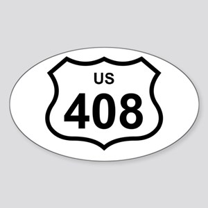 US 408 Oval Sticker