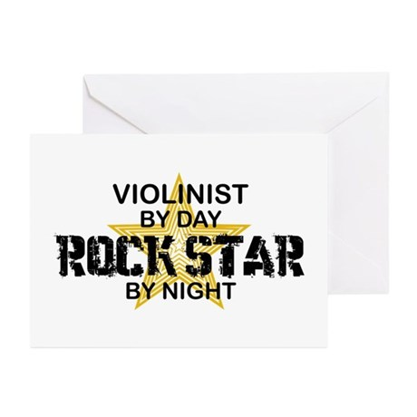 Violinist Rock Star Greeting Cards (Pk of 10)