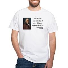 Benjamin Franklin 17 White T-Shirt
