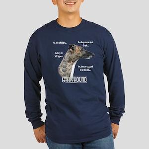 Greyhound FAQ Long Sleeve Dark T-Shirt