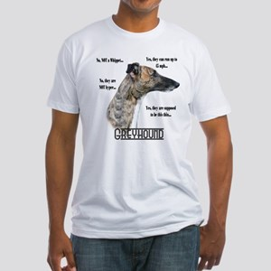 Greyhound FAQ Fitted T-Shirt