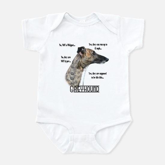 Greyhound FAQ Infant Bodysuit