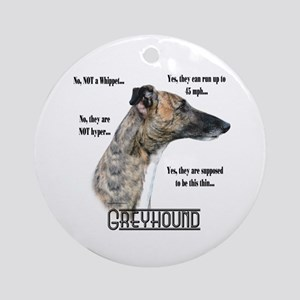 Greyhound FAQ Ornament (Round)