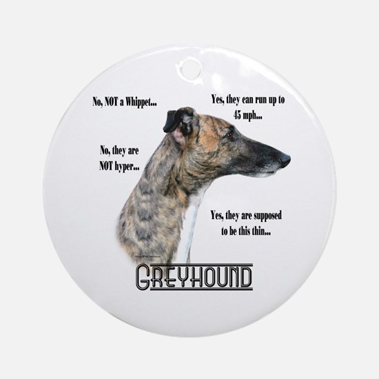 Greyhound FAQ Ornament (Round)